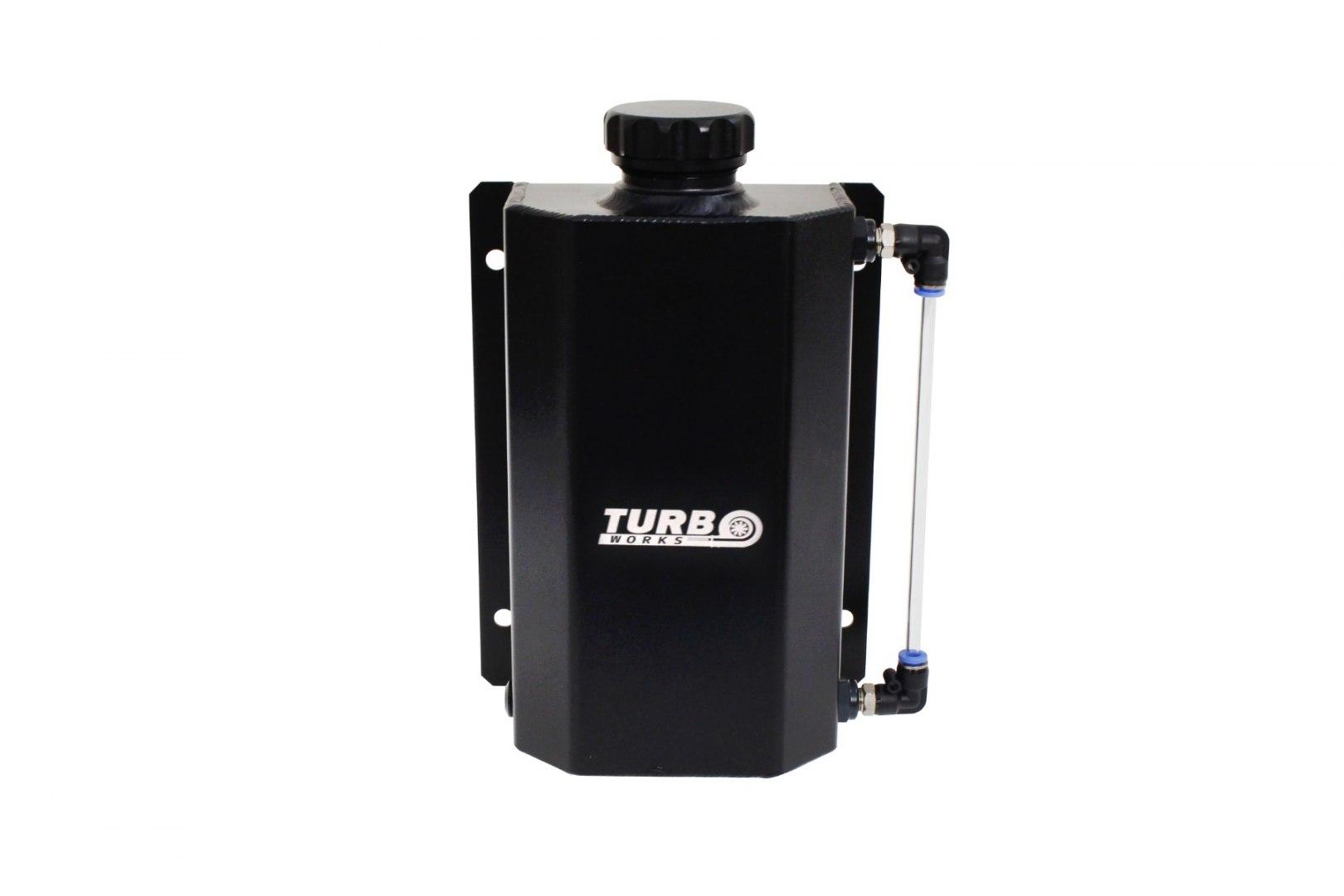 Oil catch tank 2L TurboWorks Czarny - GRUBYGARAGE - Sklep Tuningowy